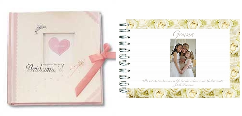 Personalised Bridesmaid Memory Books