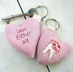 Personalised Heart Keyring