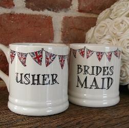 Ceramic wedding party mugs