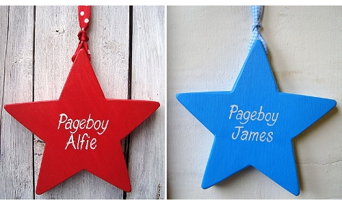 Personalised Pageboy Stars