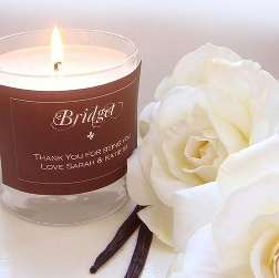 Luxury natural scented candle, hand poured in England with a natural soy wax.