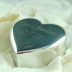 silver-plated heart trinket box