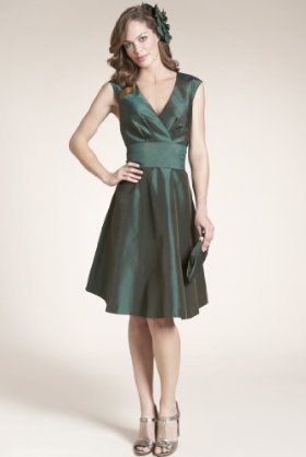 Chic and contemporary style satin prom dress