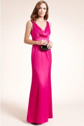 Maxi style dress in light magenta