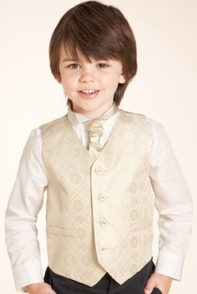 4 Button Waistcoat & Shirt Set with Tie