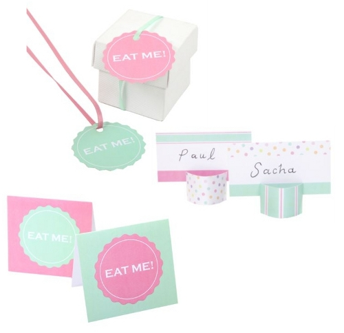 Eye Candy Place Cards & Favour Boxes