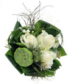 Wedding Flowers with Green Leaves and Foliage