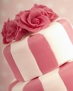 Pink Stripe Wedding Cake
