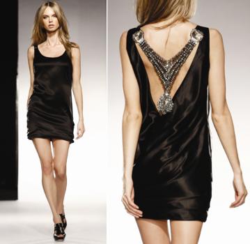 Black Designer Party Dress