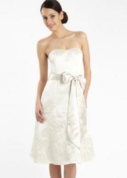 Prom style ivory bridesmaid dress