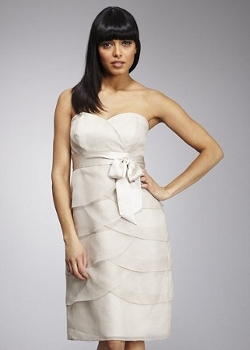 neutral coloured bridesmaid dress from john lewis