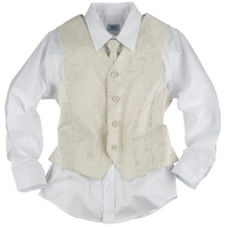 boy's formal shirt and waistcoat set