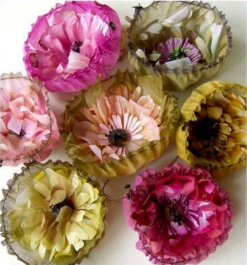 Wedding flowers made from coffee filters