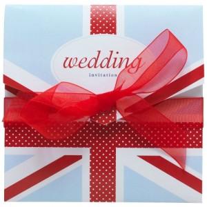 Union Jack themed wedding stationery