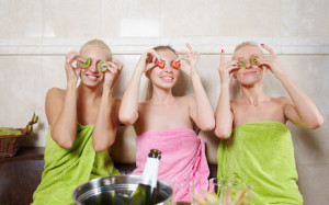 Brides spa party